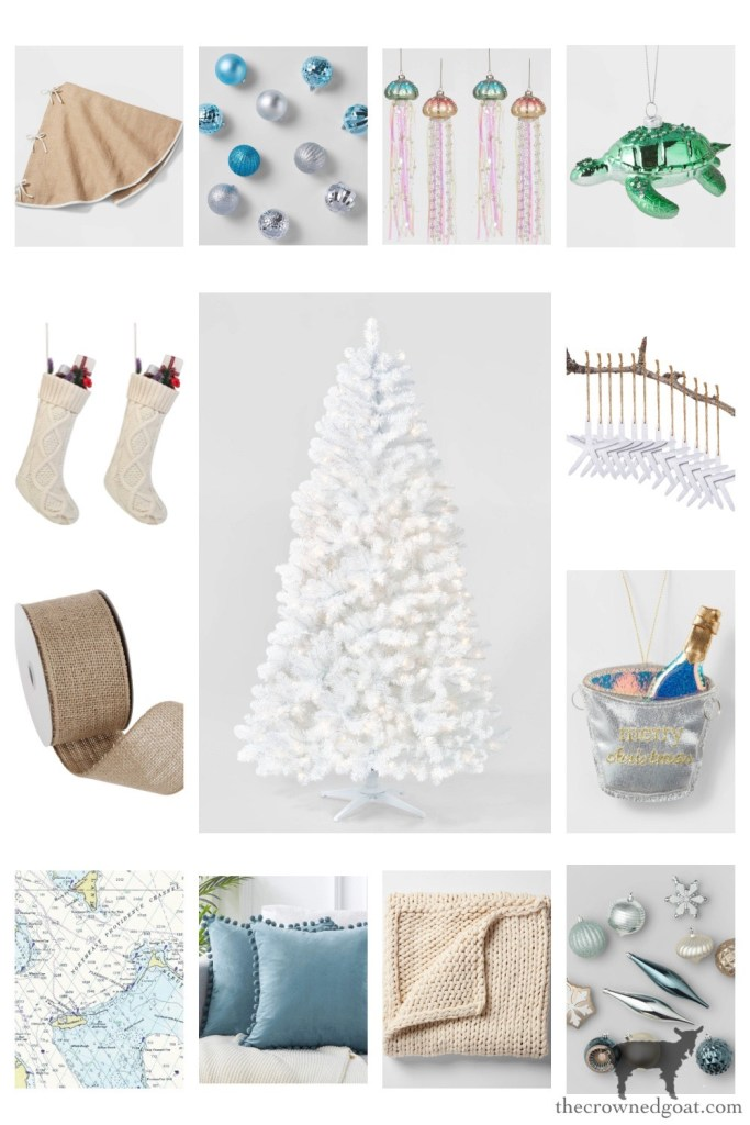 Coastal Christmas Inspiration from Amazon and Target-The Crowned Goat
