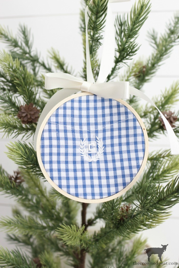 Farmhouse Embroidery Hoop Gift Tag Ornaments