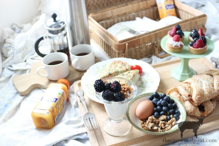 Breakfast in Bed Picnic for Mother's Day