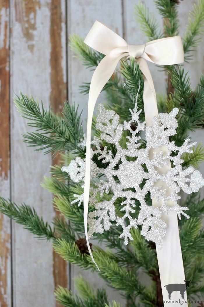 Glass Glitter Snowflake Ornaments