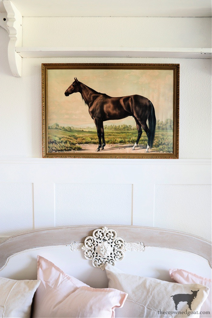 Decorating with a vintage equestrian print - The Crowned Goat