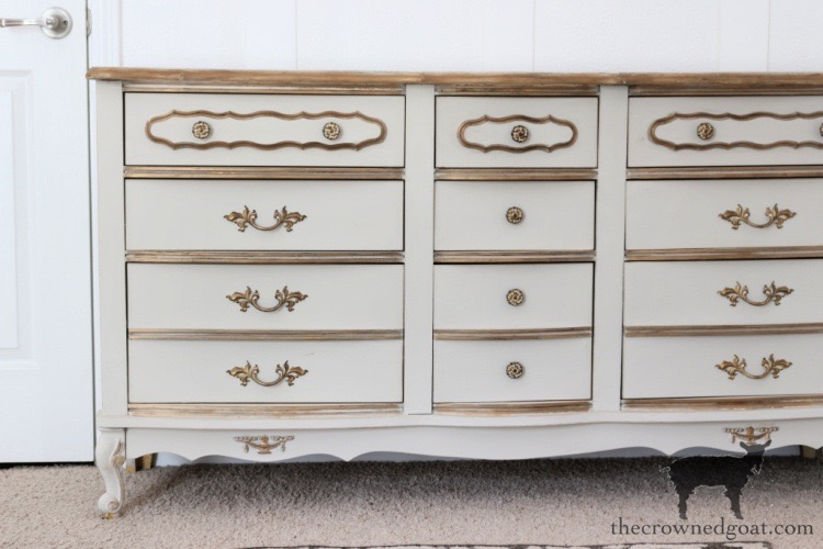Accenting a French Country Dresser with Antique Gold Rub n Buff - The Crowned Goat