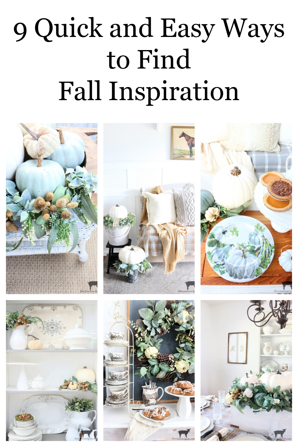 9 Quick and Easy Ways to Find Fall Inspiration-The Crowned Goat