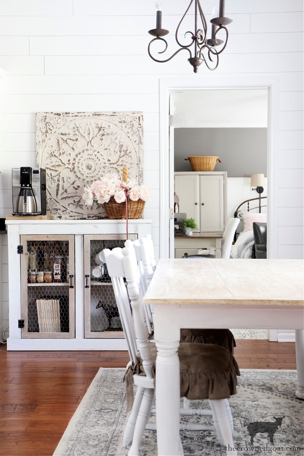 Cottage Style Breakfast Nook-The Crowned Goat