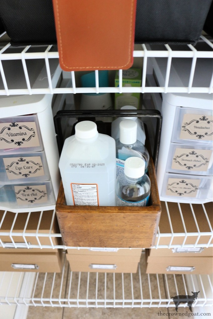 Grab and Go First Aid Kit for Small Linen Closet Organization-The Crowned Goat