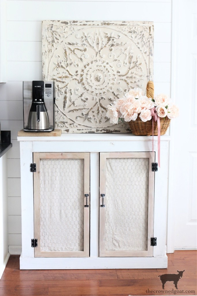 Quick and Easy French Country Cabinet Makeover-The Crowned Goat