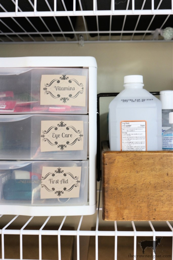 Use 3-Drawer Bins to Safe Space in a Small Bathroom Linen Closet-The Crowned Goat