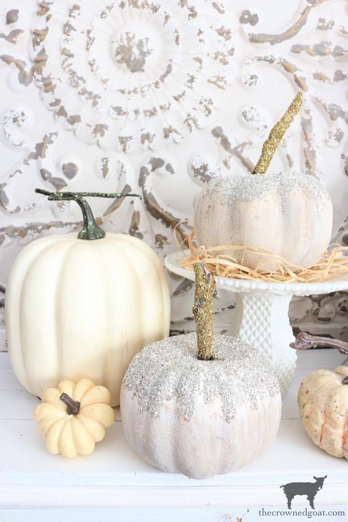 Dollar Tree Glass Glitter Pumpkins