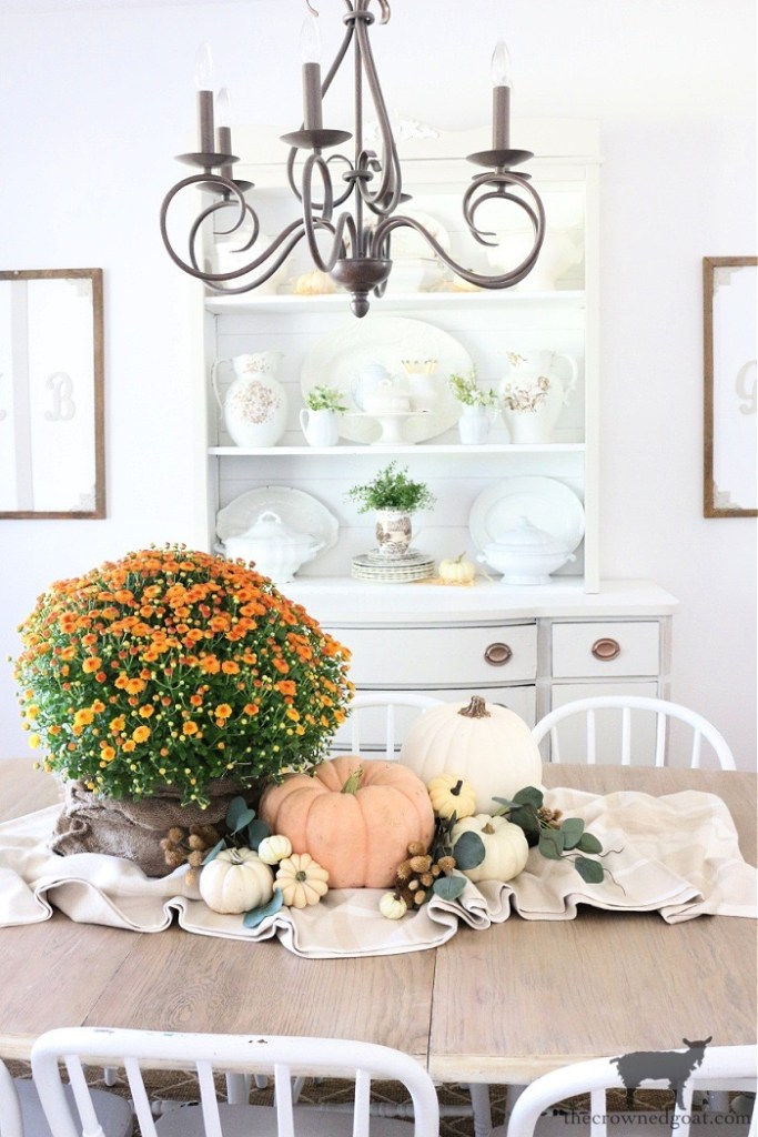 Fall Home Tour-Fall Dining Room-The Crowned Goat