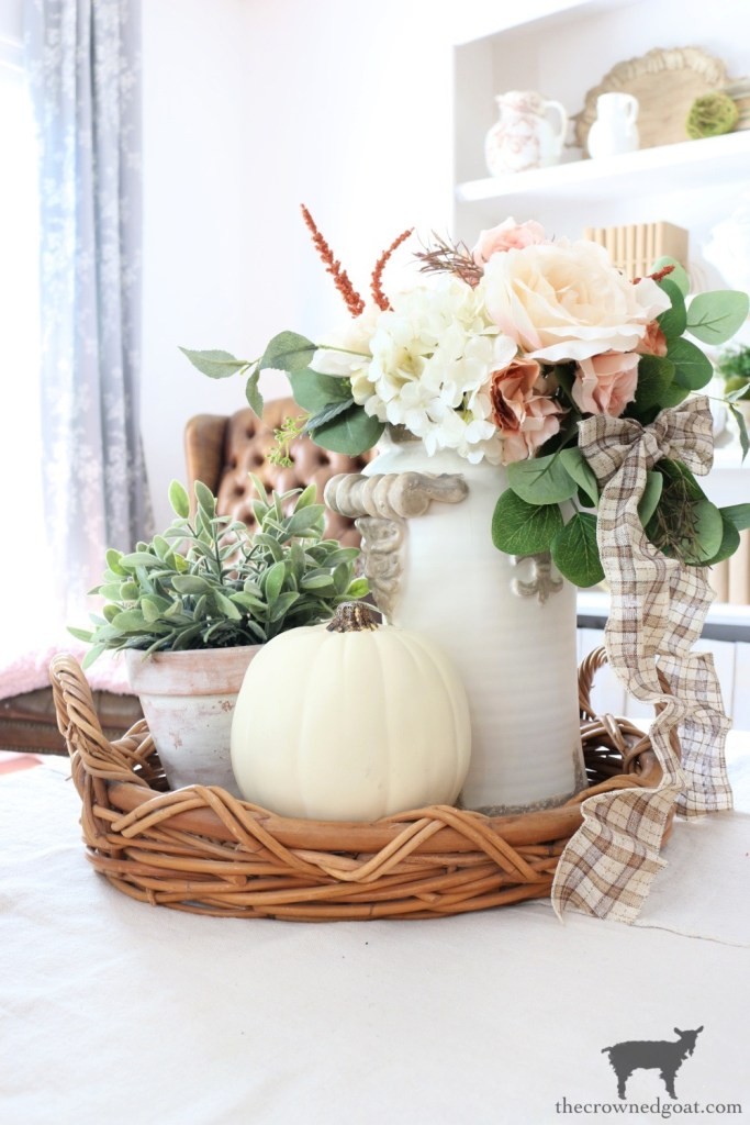 Fall Vignette with Craft Store Pumpkin-The Crowned Goat
