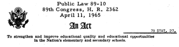 Quality and Opportunity were the twin goals desired in federal education law as stated by President Kennedy.