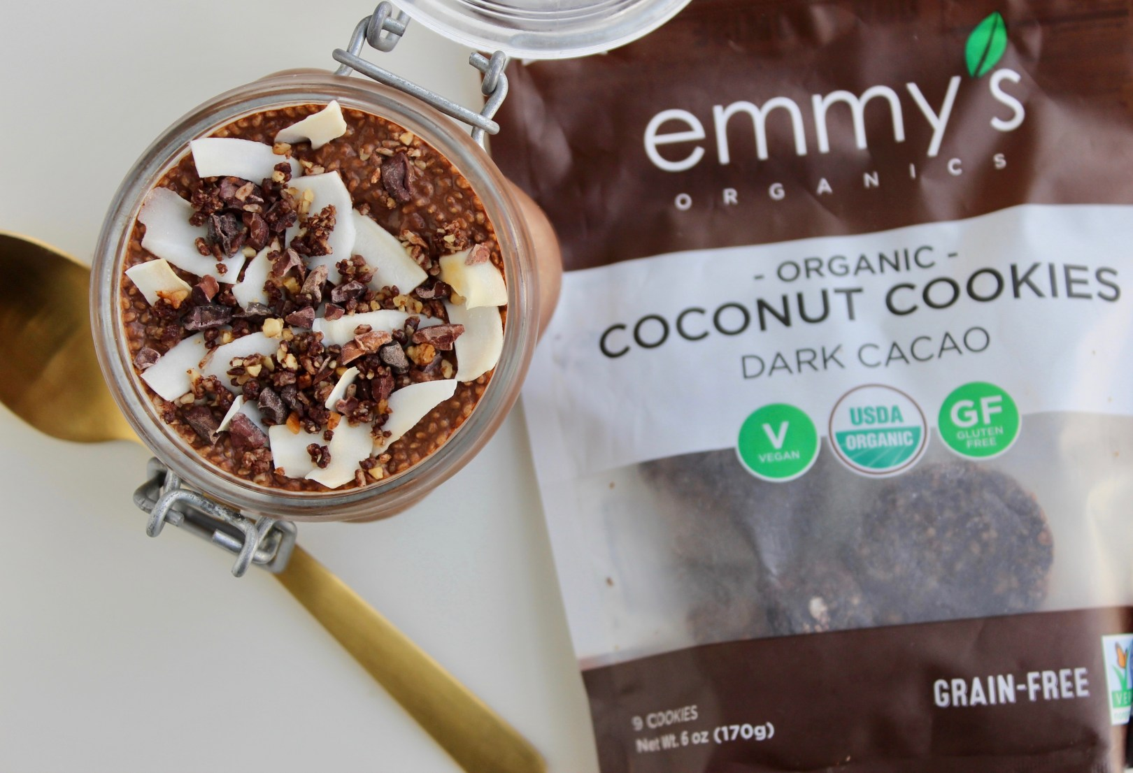 Coconut Cacao Chia Seed Pudding