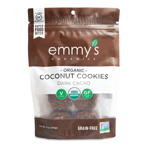 Dark Cacao Coconut Cookies
