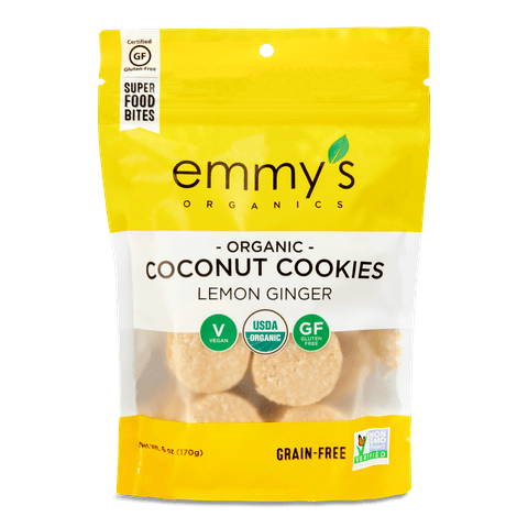 Lemon Ginger Coconut Cookies
