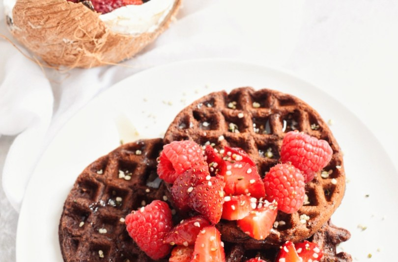 Chocolate Cookie Waffles
