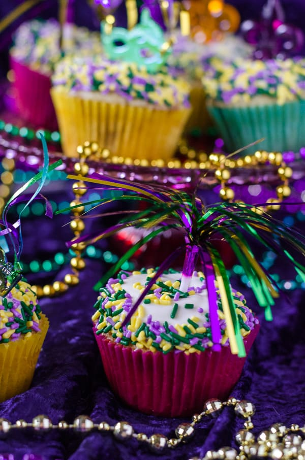 King Cake Cupcakes  The Crumby Kitchen