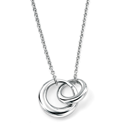 sterling silver interlocked links necklace