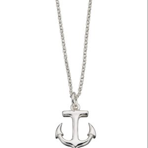 sterling silver anchor nautical pendant