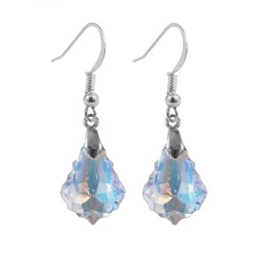 sterling silver swarovski crystal ab baroque earrings