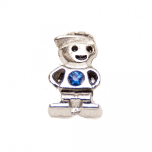 blue diamanté little boy memory locket charm