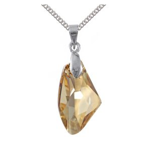 swarovski crystal golden shadow galactic pendant