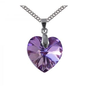 swarovski crystal vitrail light Purple Heart pendant