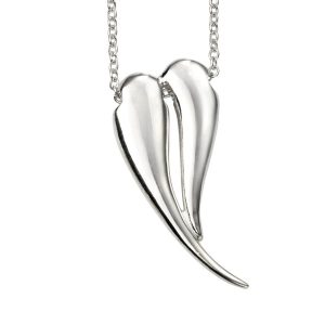 n4315 beginnings sterling silver organic heart necklace