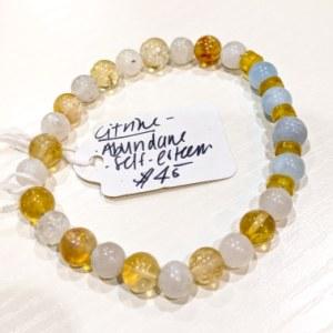 Aquamarine + Citrine + Moonstone Bracelet