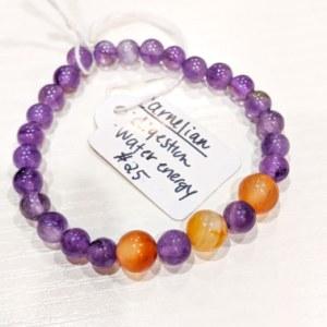 Amethyst + Carnelian Bracelet