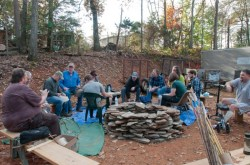 CTA Primitive Skills Weekend - Nov 2015-4_Sharing Knapping Skills