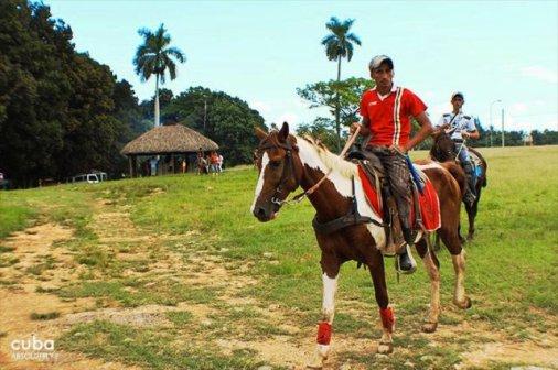 man riding a horse at Lenin park © Cuba Absolutely, 2014
