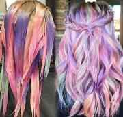 stunningly styled unicorn hair