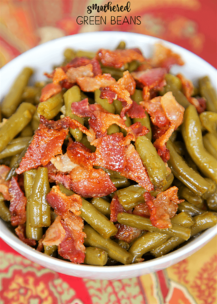 Smothered Green Beans-easter side dishes recipes-easter side dishes vegetables-easter side dishes make ahead-easter side dishes recipes veggies-easter side dishes recipes simple