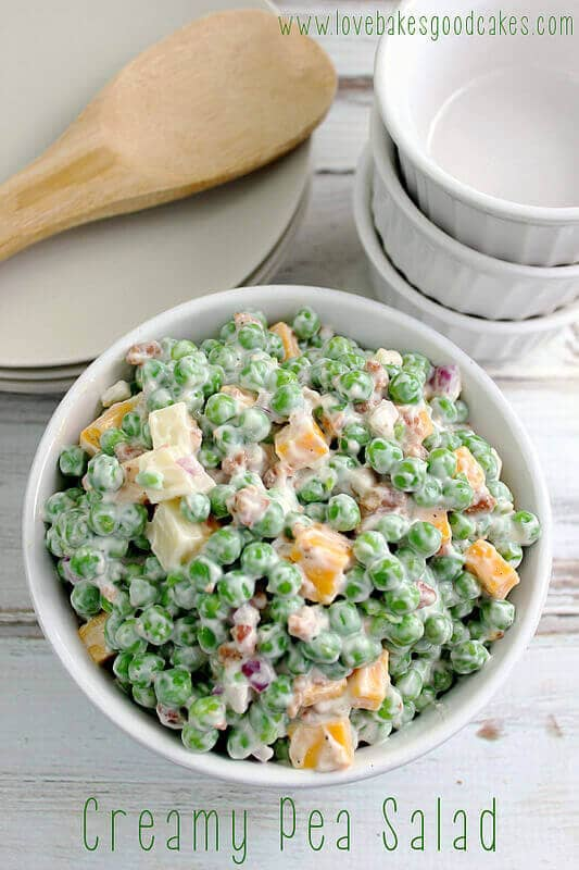 Creamy Pea Salad-easter side dishes recipes-easter side dishes vegetables-easter side dishes make ahead-easter side dishes recipes veggies-easter side dishes recipes simple
