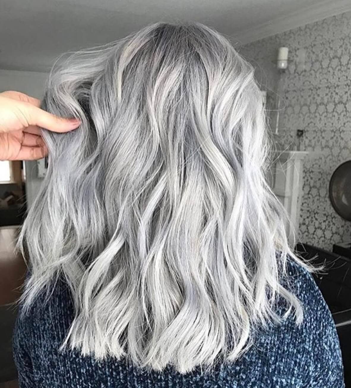 25 silver hair color