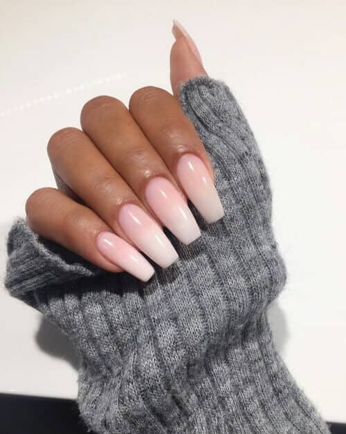 30 Acrylic Nails In A Long Square Design