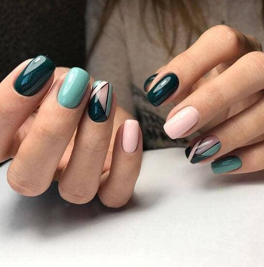 Ring Finger Nail Art Lines