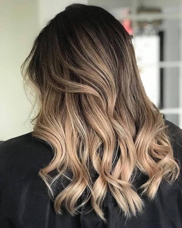 Caramel Balayage Light Brown Hair