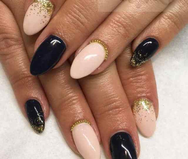 Black And Blush Creative Nails