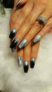 gorgeous holographic nails