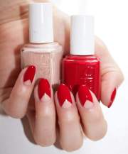 creative red acrylic nail design