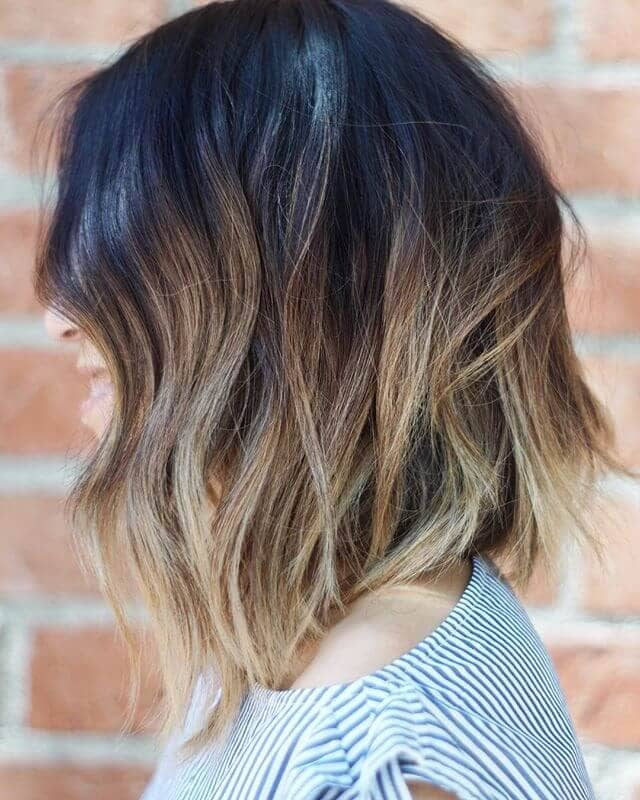 Light Blonde Highlights in Short Bob Hairstyle