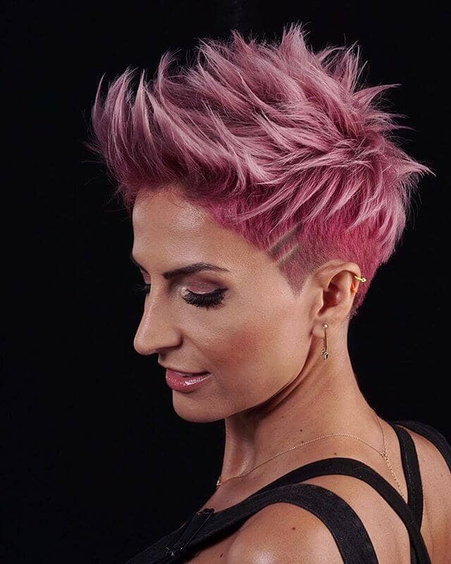 On the Edge Short Pink Hair