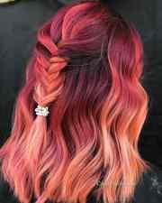 stunning rainbow hair color