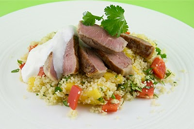 Lamb with Mango Couscous Salad The Culinary Chase