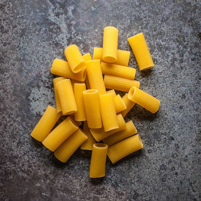 tube type pasta