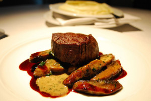 Demi glace is decadent on steak and enhances the experience