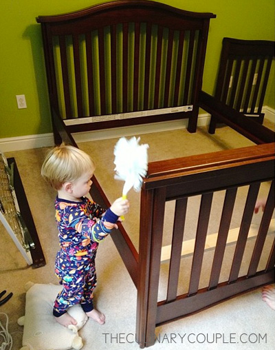 When The Full Size Bed Was Assembled And Box Spring Mattress Were In Place It Looked Gigantic Very Intimidating To Our 27 Pound Kiddo