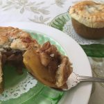 recipe for apple pie baked into an apple by kristen coffield of the culinary cure