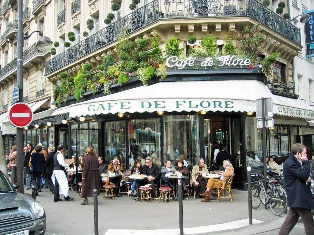 Café de Flore (http://de.wikipedia.org/wiki/Caf%C3%A9_de_Flore)